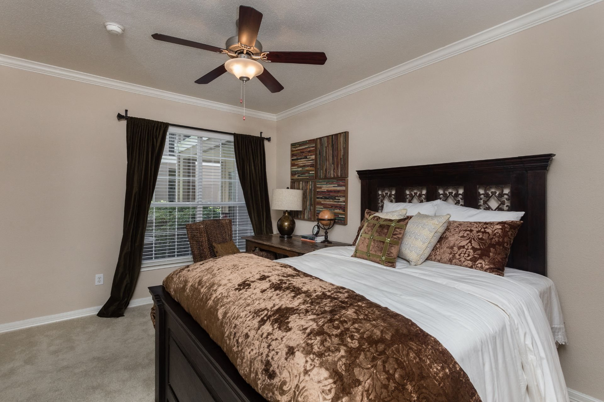 Beautiful Bright Bedroom With Wide Windows at Estates at Bellaire, Houston, 77081