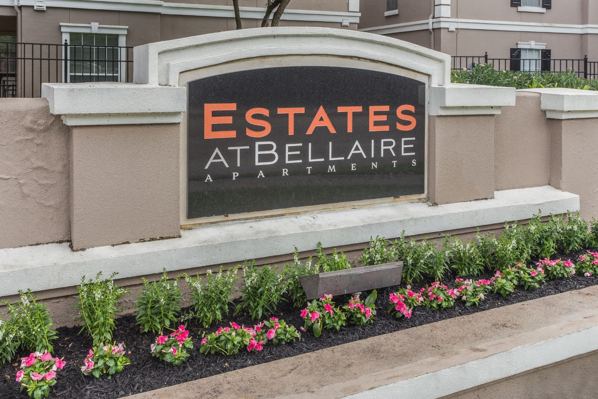 Property Sign at Estates at Bellaire, Houston, Texas