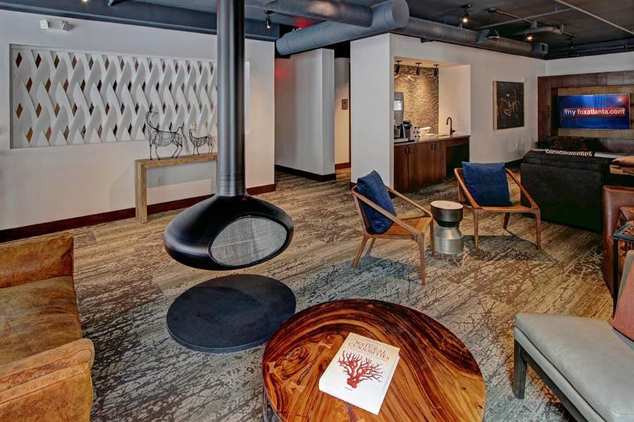 Social area with Fireside lounging at Berkshire Howell Mill, Atlanta, GA, 30318