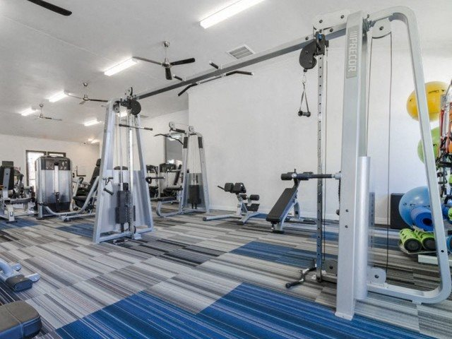Fitness Center With Modern Equipment at Berkshire Preserve, Garland