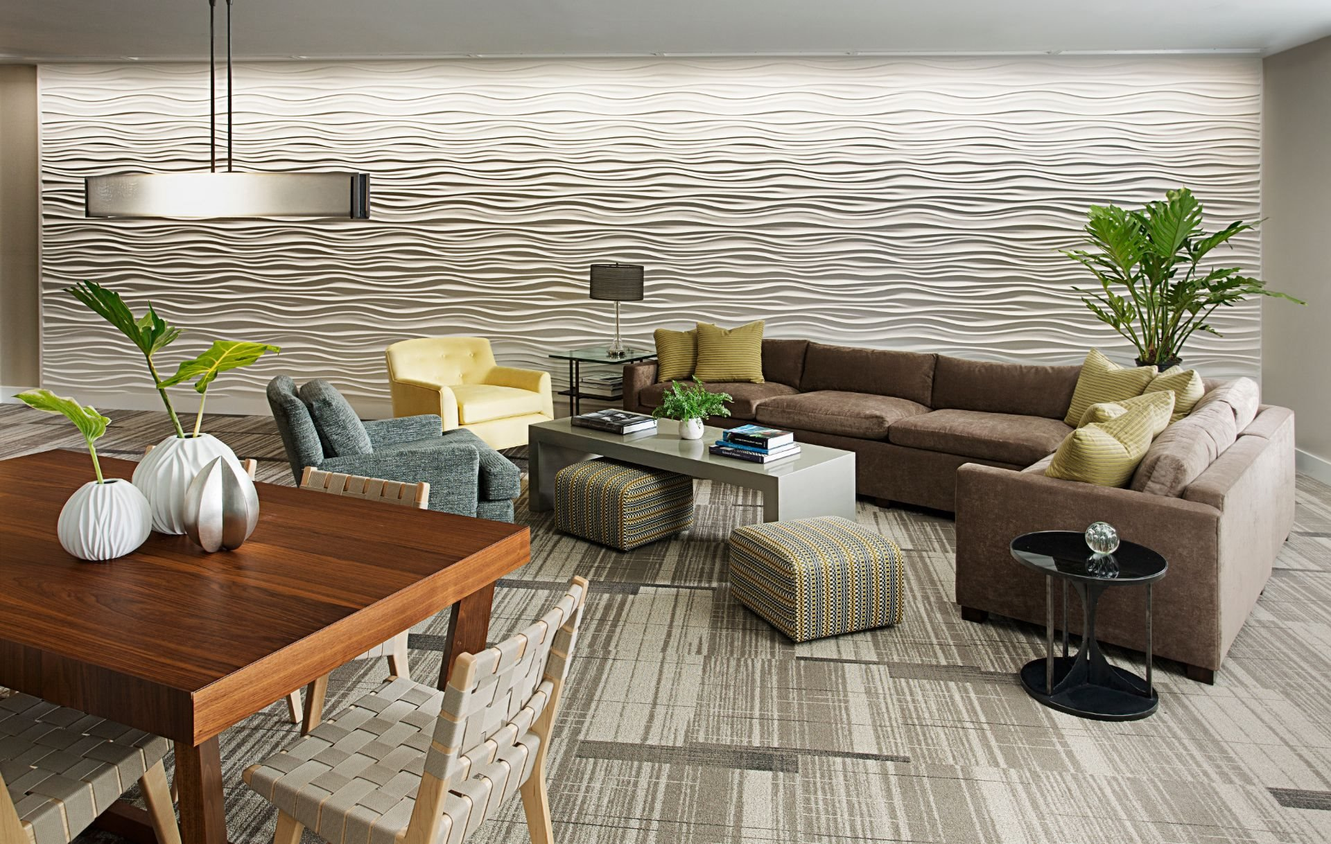 Beautifully Designed Resident Club Room and Lounge with Work-From-Home Spaces, Resident Lounge, Coffee Bar and Media Viewing Space at Gatehouse 75, Charlestown, MA, 02129