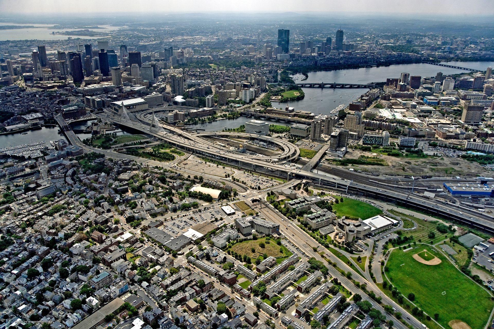 Aerial photo at Gatehouse 75, Charlestown, MA
