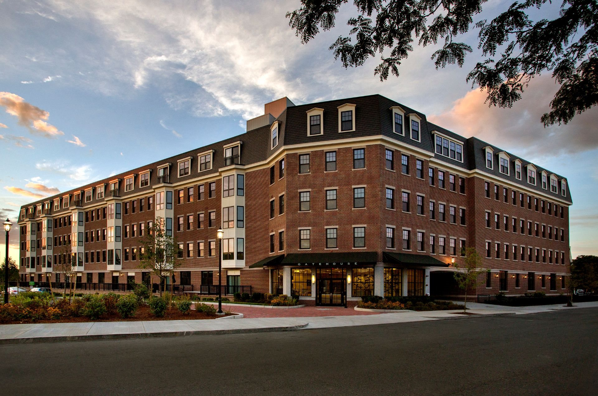 Exterior 5-Story Building at Gatehouse 75, Charlestown, MA