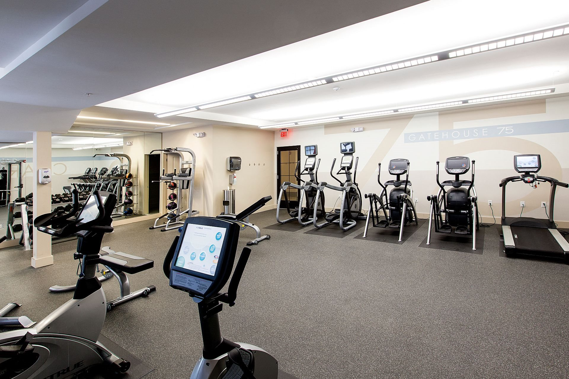Fitness and Cardio Center with Treadmills at Gatehouse 75, Charlestown, MA, 02129