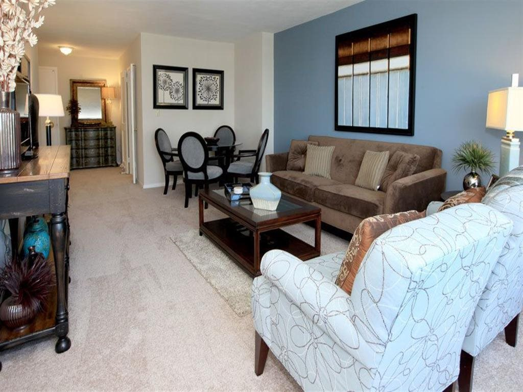 Modern Living Room at Towne House, St. Louis, 63108