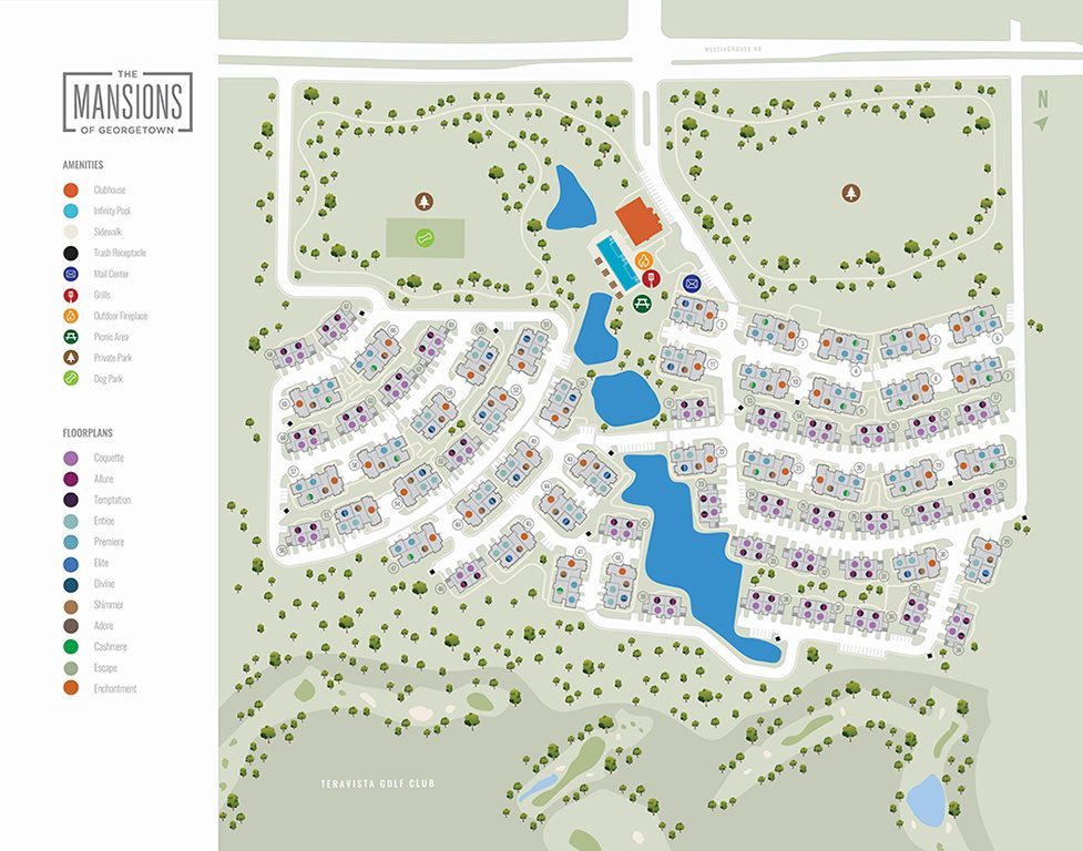 Site Map at Villages of Georgetown, Georgetown