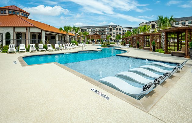 Blue Cool Swimming Pool at Mansions at Spring Creek, Garland, 75044