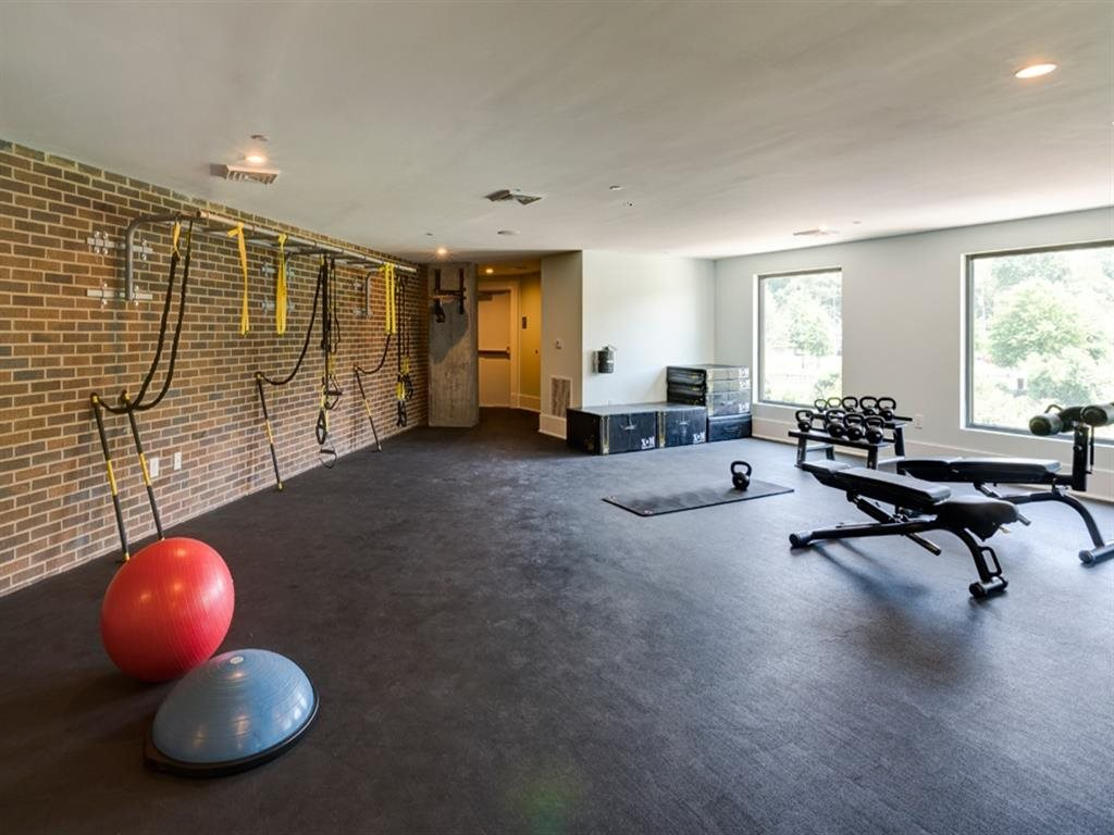Berkshire Dilworth fitness center with free weights