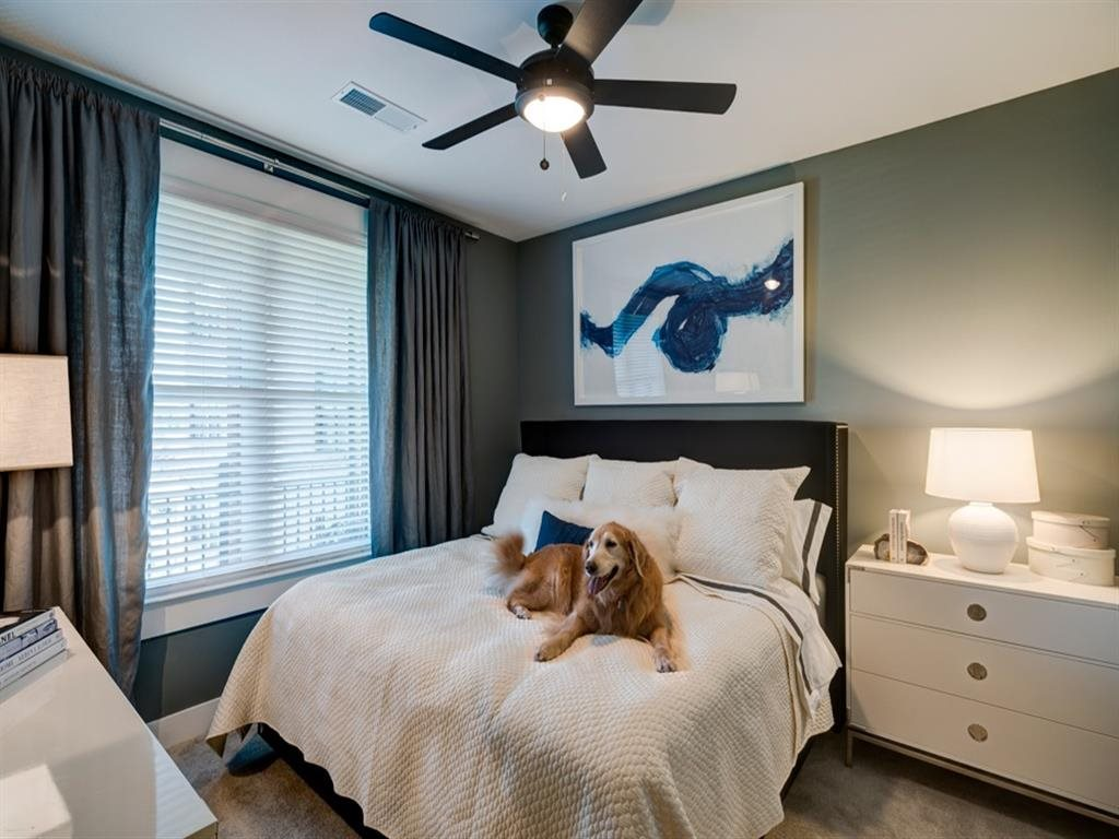 Berkshire Dilworth bedroom with ceiling fan