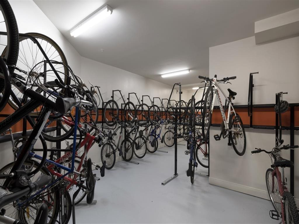 Berkshire Ninth Street bike storage and repair room