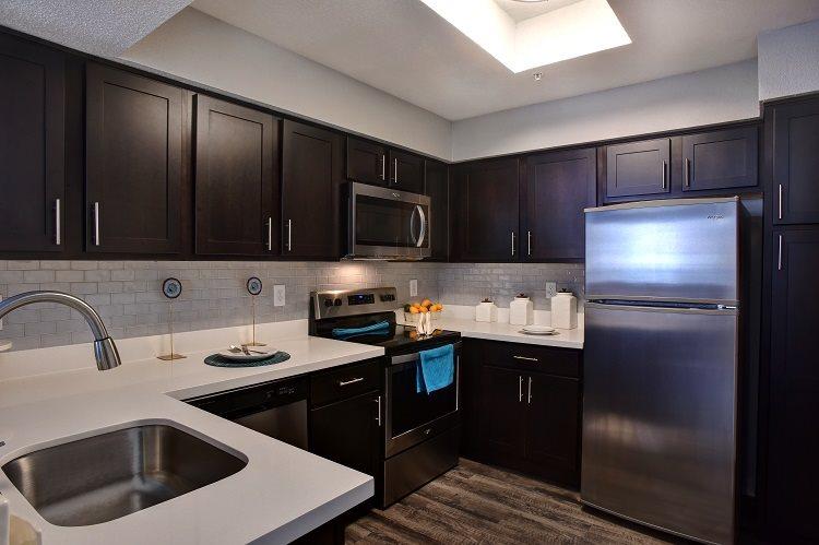 Refrigerator And Kitchen Appliances at Greenbriar Park, Houston, TX, 77030