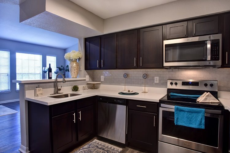 Fully Equipped Kitchen With Modern Appliances at Greenbriar Park, Houston, Texas