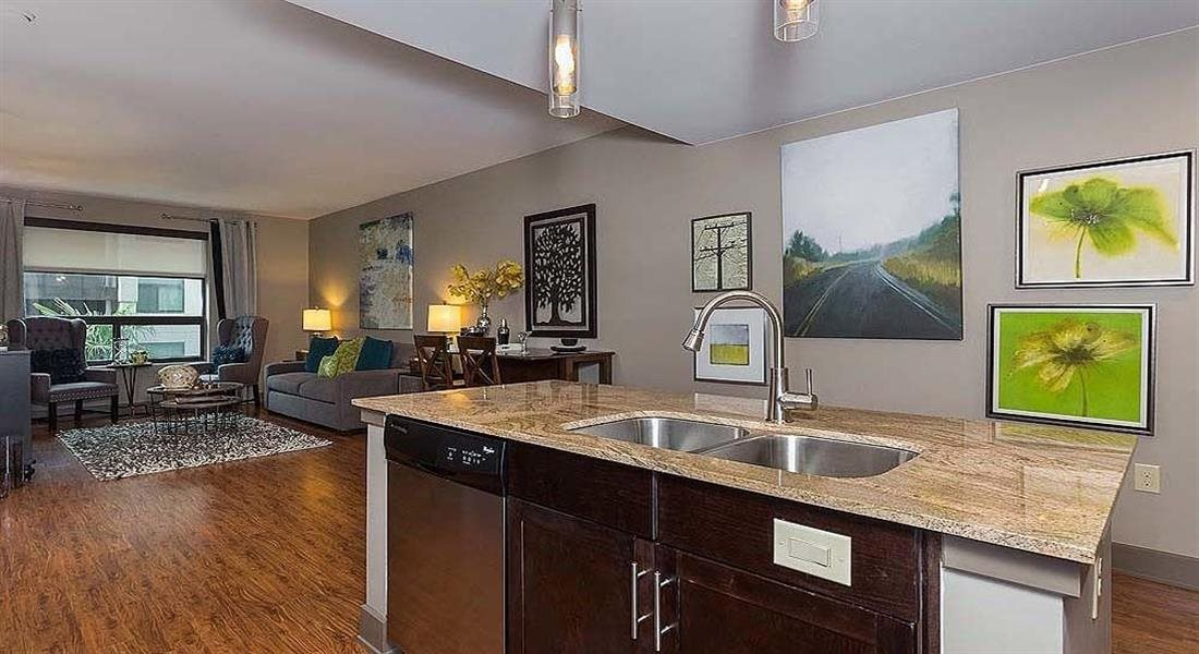 Kitchen Islands in Select Apartments at Berkshire Riverview, Texas, 78741