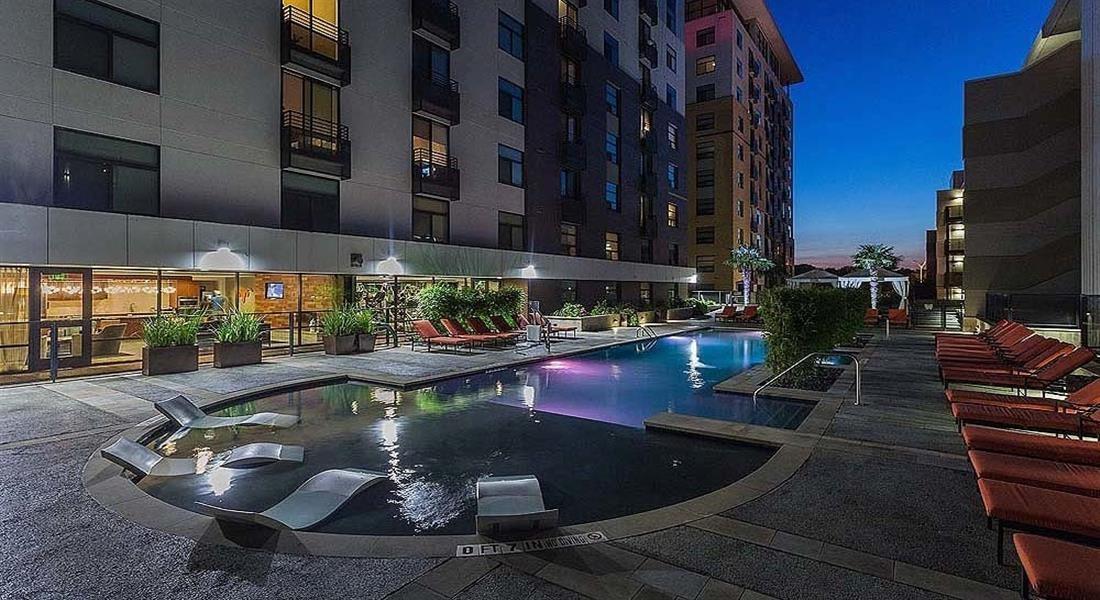 Night Pool at Berkshire Riverview, Austin