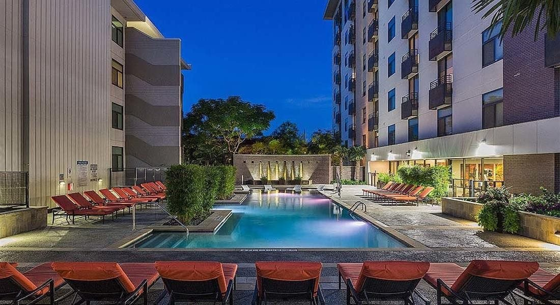 Swimming Pool With Relaxing Sundecks at Berkshire Riverview, Austin, TX