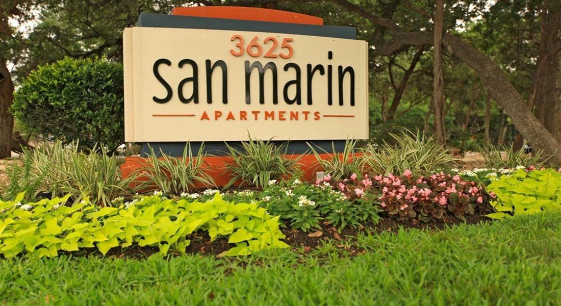 Welcoming Property Signage at San Marin, Texas, 78759