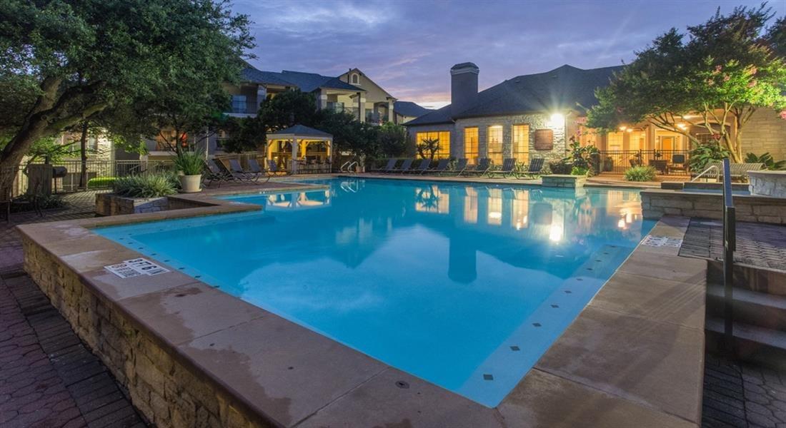 Swimming Pool with Lounge Seating at San Marin, Texas