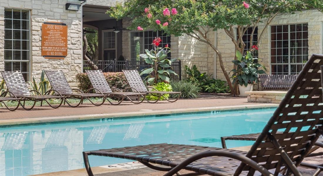 Pool With Sunning Deck at San Marin, Texas, 78759