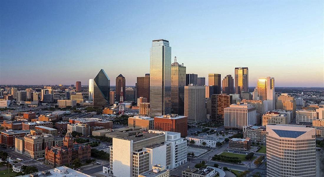 Aerial View Of The City at Dallas TX 75248