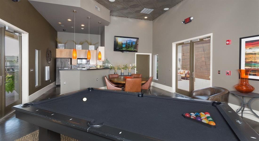 Clubroom with Billiards