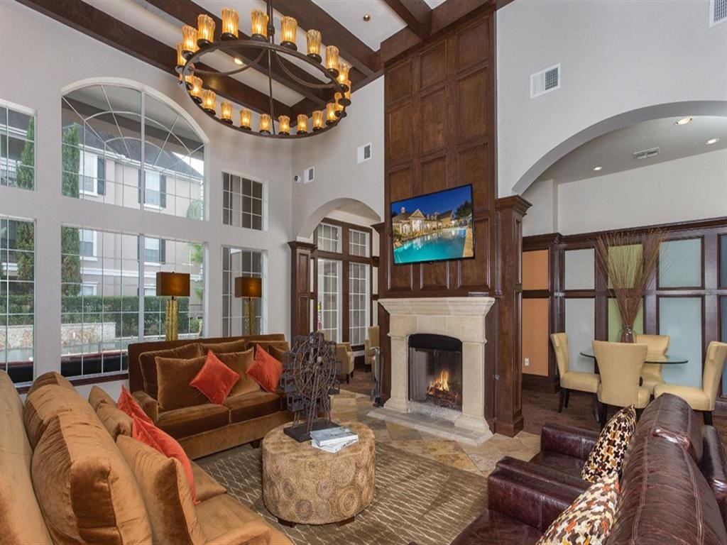 Resident Clubroom at Estates at Bellaire, Texas, 77081