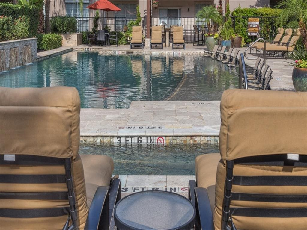 Pool With Sunning Deck at Estates at Bellaire, Houston, TX, 77081