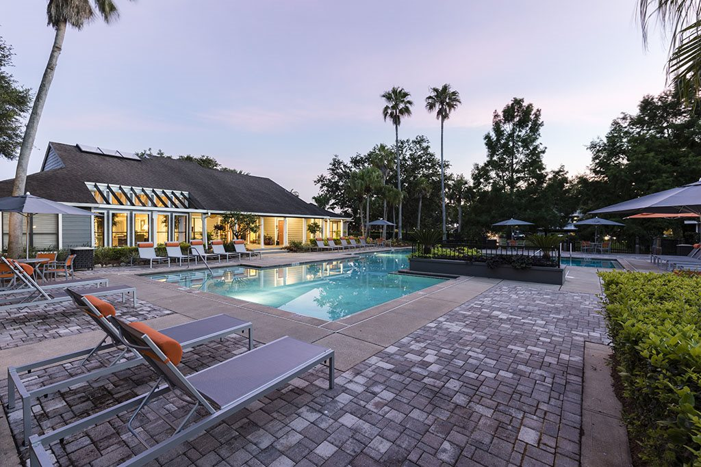 The Fountains at Lee Vista pool with sundeck
