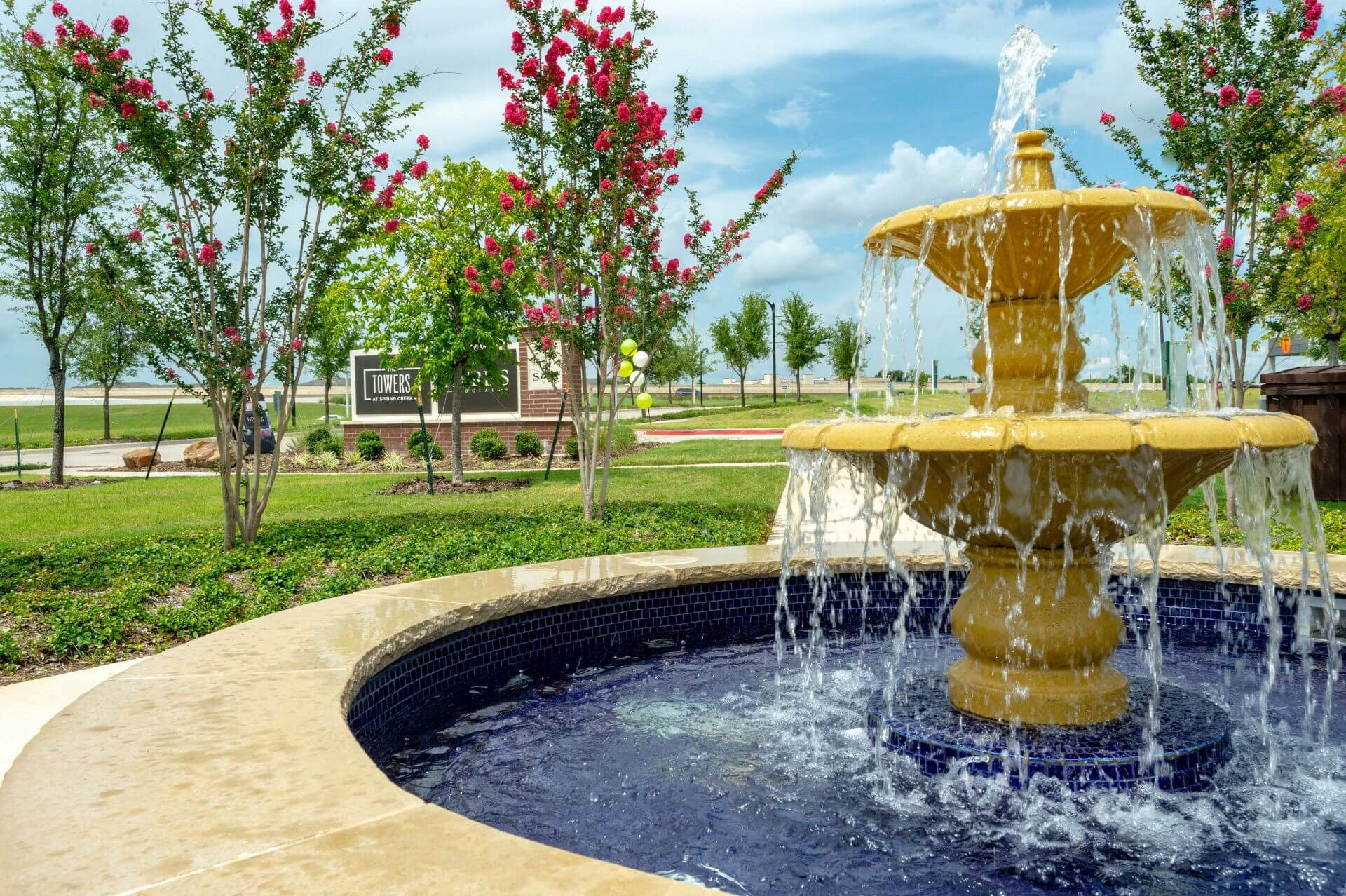 Courtyards With Trickling Fountains at Berkshire Spring Creek, Texas, 75044