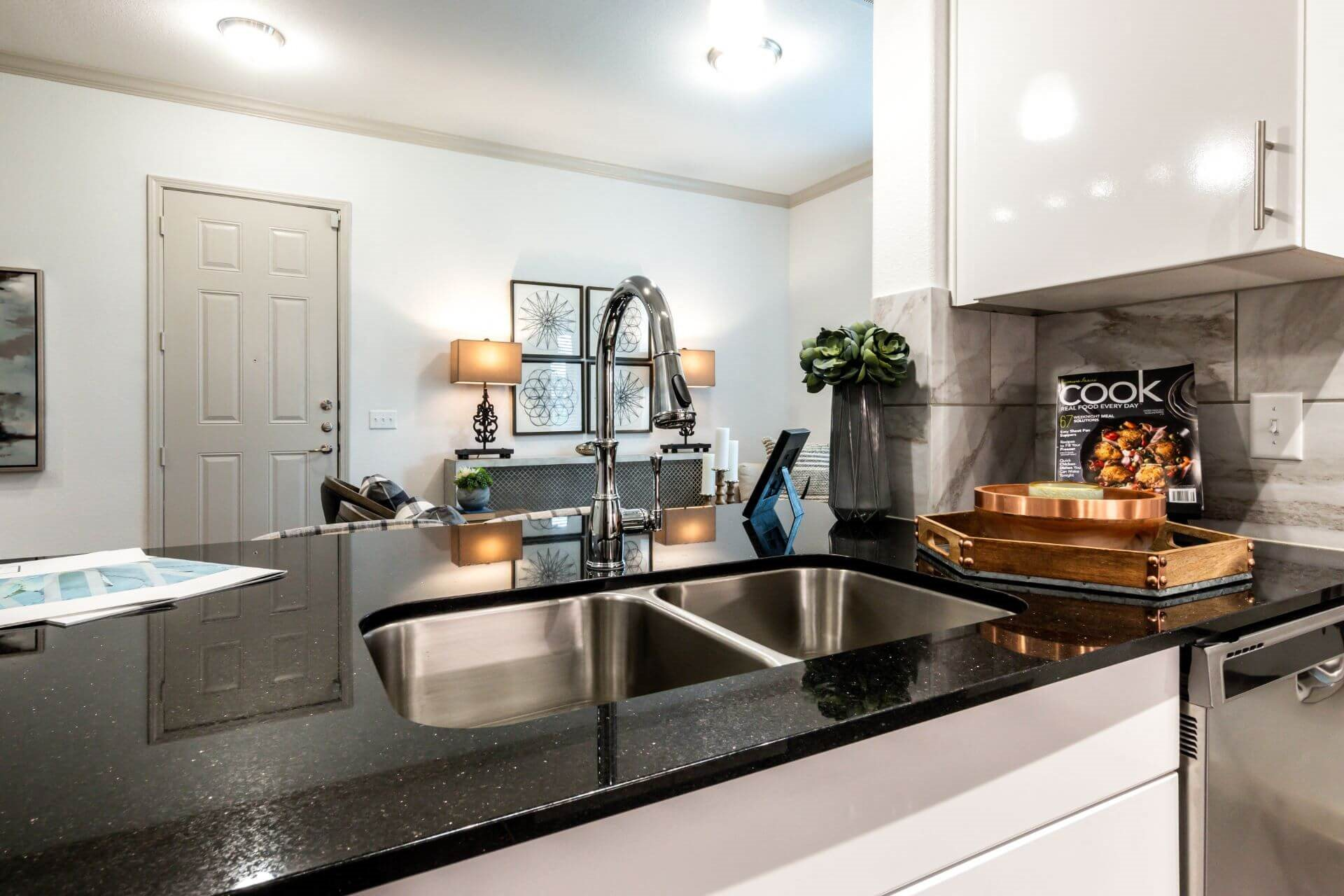 Stainless Steel Sink With Faucet In Kitchen at Berkshire Creekside, New Braunfels