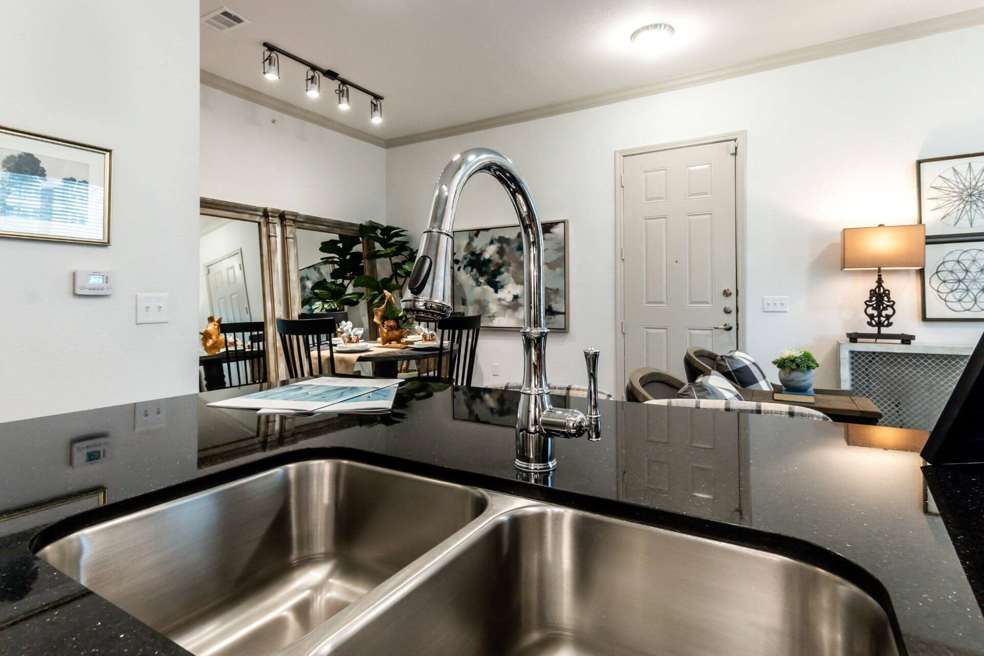 Stainless Steel Sink With Faucet at Berkshire Creekside, New Braunfels, Texas