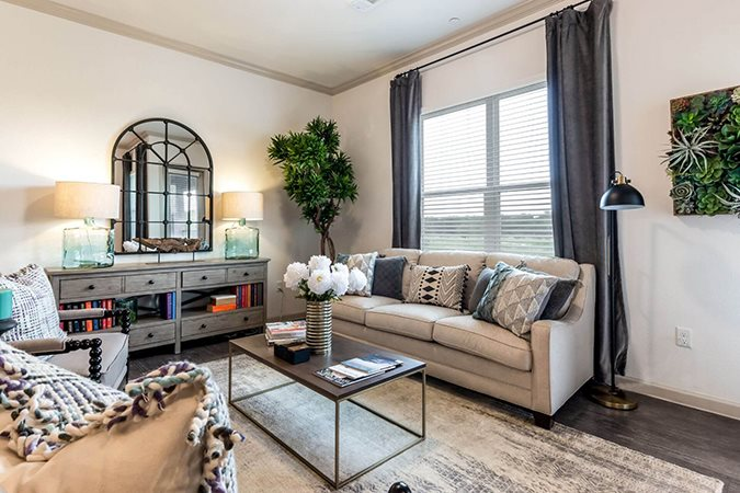 Spacious Living Room at Berkshire Creekside, New Braunfels, TX