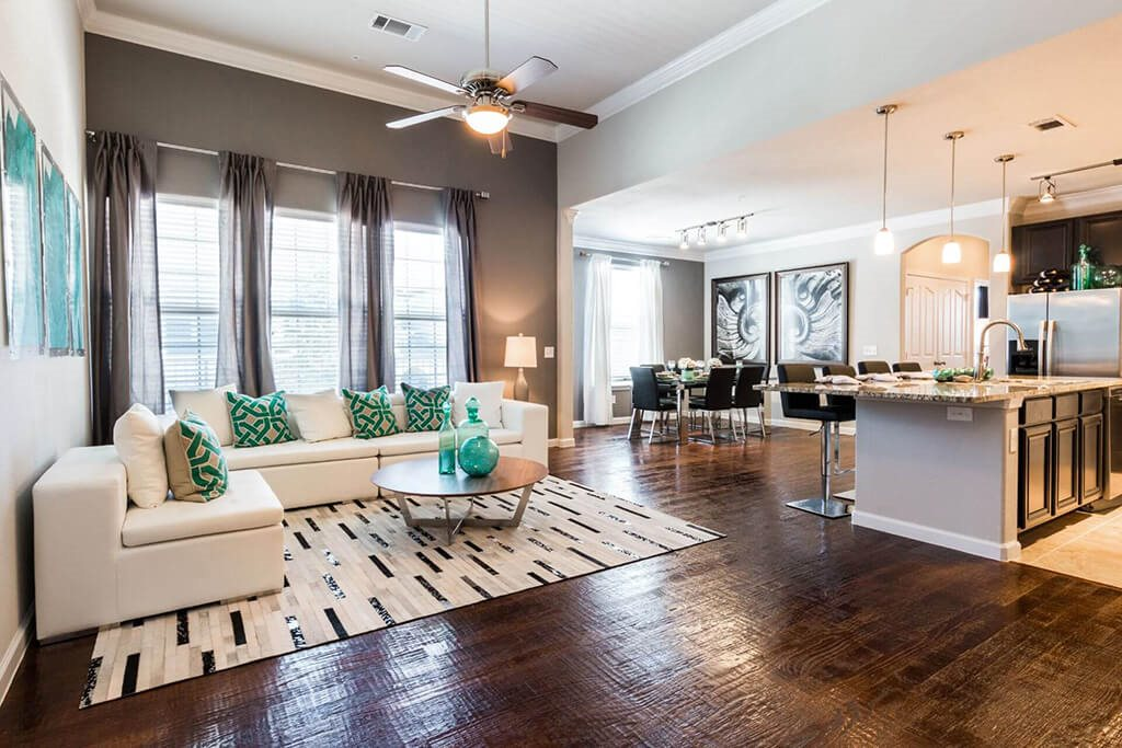 Expansive Living Room at Villages of Briggs Ranch, San Antonio, TX, 78245