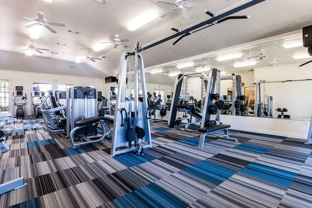 Modern Fitness Center at Villages of Briggs Ranch, Texas, 78245