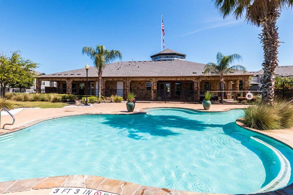 Front Pool View at Villages of Briggs Ranch, San Antonio, Texas