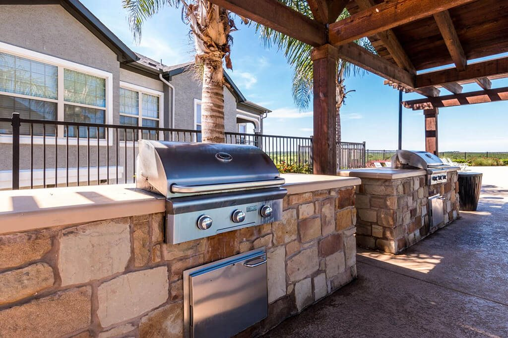 Poolside Grilling Stations at Villages of Briggs Ranch, San Antonio, TX, 78245