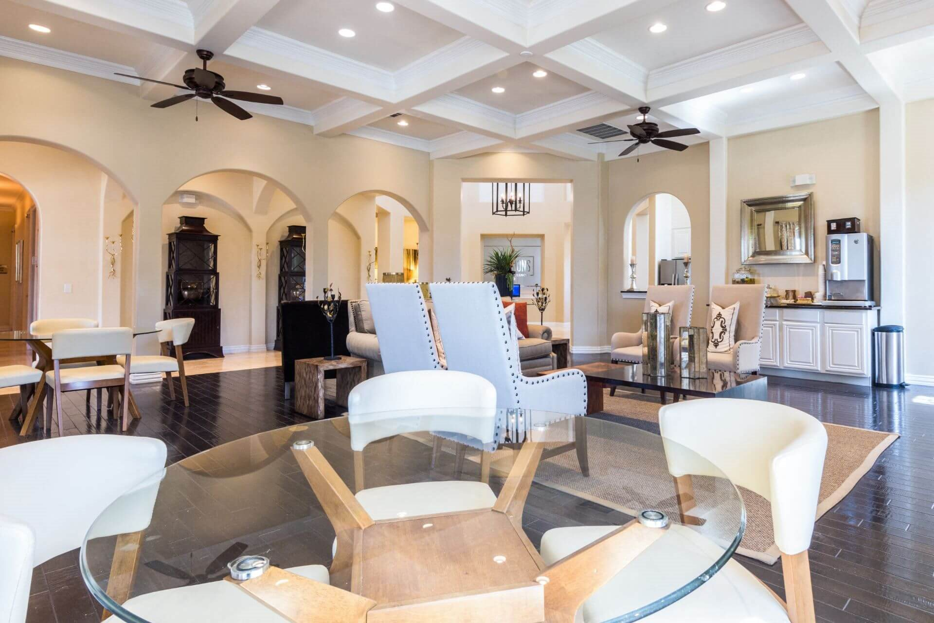 High Ceiling Lounge Area at Villages of Briggs Ranch, Texas, 78245