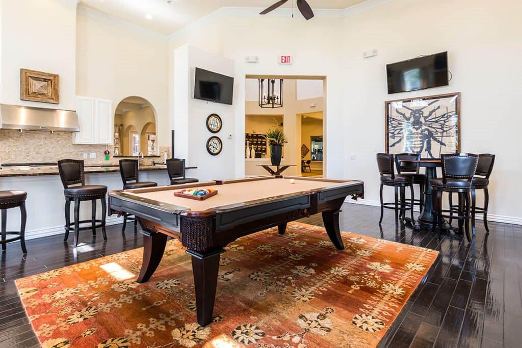 Billiards Table at Villages of Briggs Ranch, San Antonio