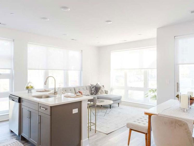 Quin Apartments Open Floor Plan Kitchen