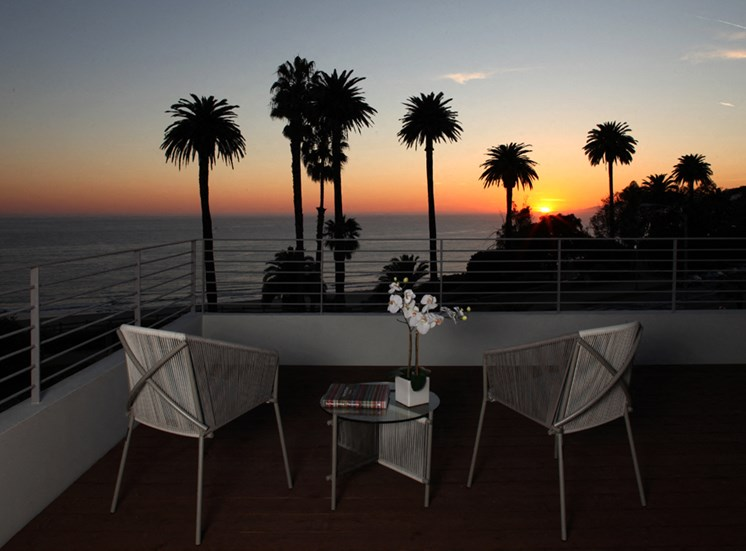 Sunset View From Terrace at 301 Ocean Ave, Santa Monica, 90402