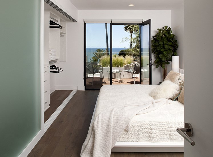 Spacious Bedroom With Sliding Wardrobe at 301 Ocean Ave, Santa Monica, California