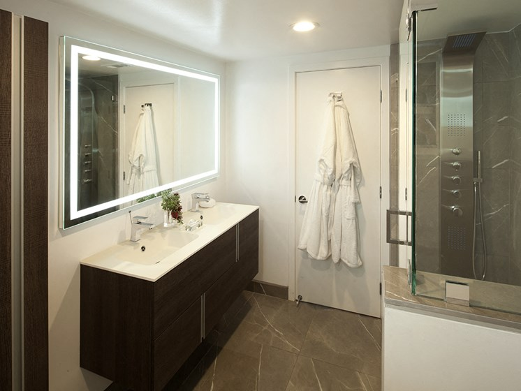 Hotwater and Rainshower in Bathroom at 301 Ocean Ave, Santa Monica, CA, 90402