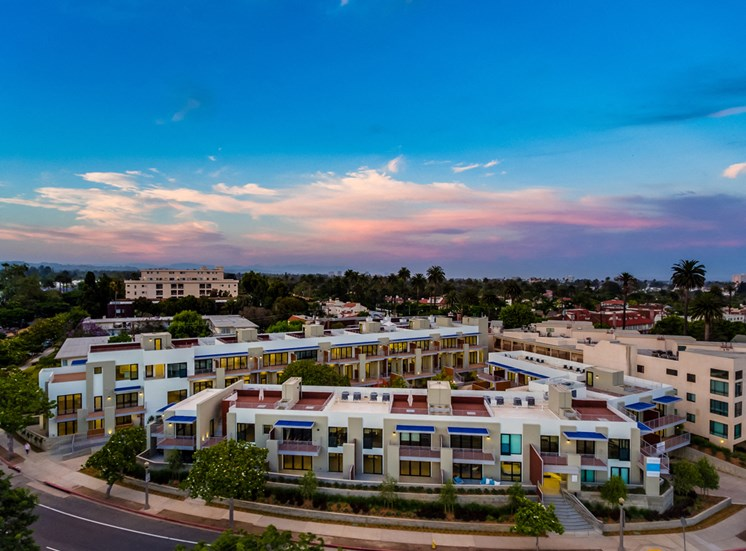Aerial View of Property at 301 Ocean Ave, Santa Monica, CA, 90402