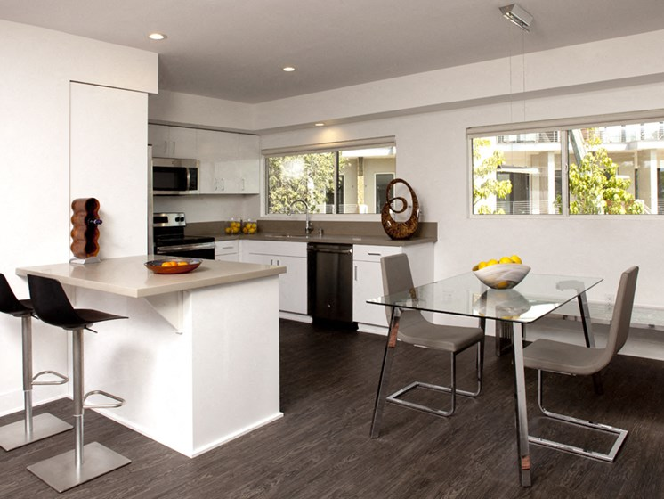 White Custom Cabinetry at 301 Ocean Ave, California