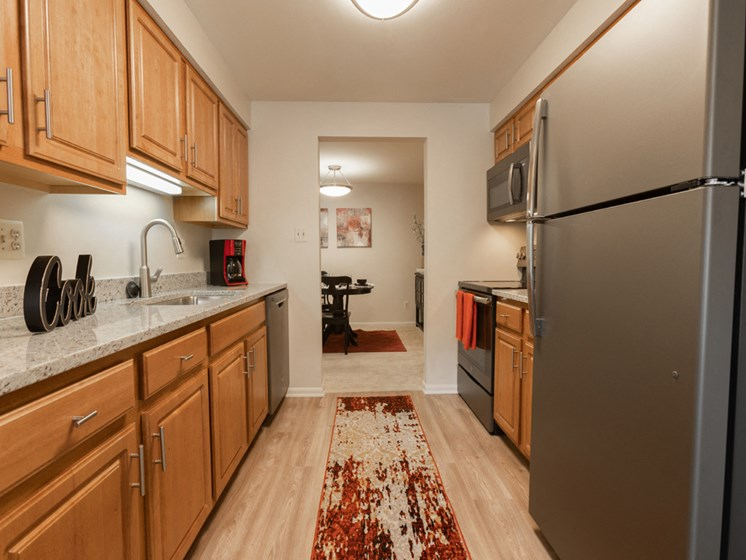 Granite Countertops With Deep Sink, at Cromwell Valley Apartments, Maryland, 21286