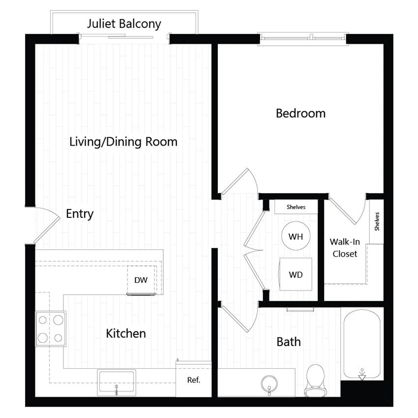 Chroma Apartments Plan 1A