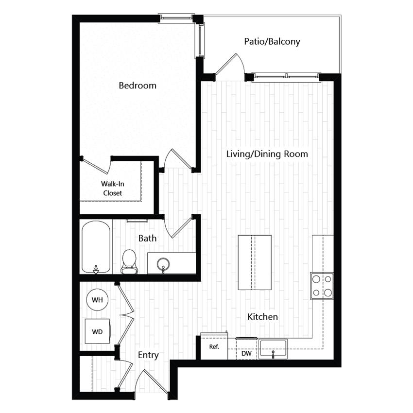 Chroma Apartments Plan 1C