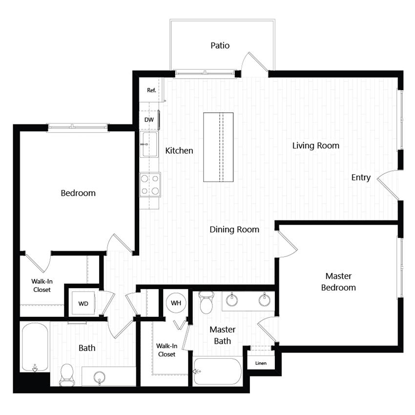 Chroma Apartments Plan 2B