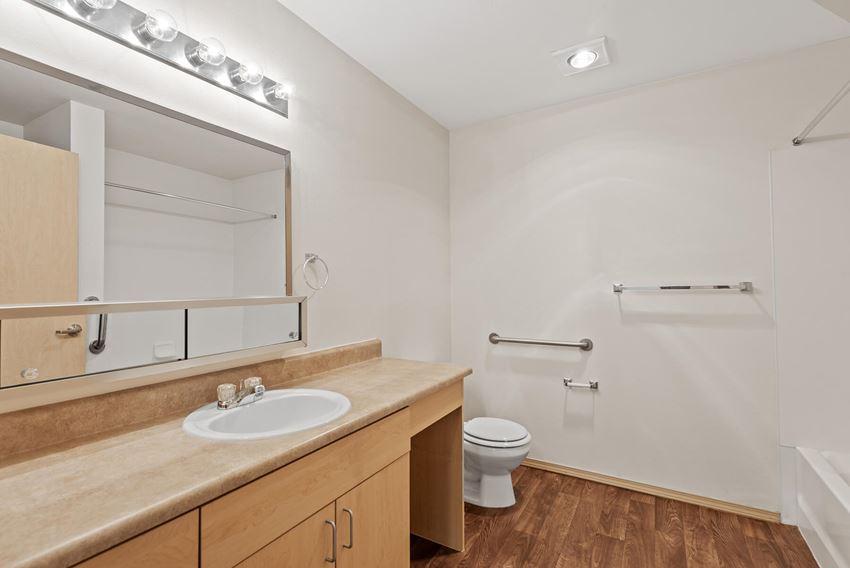 Bathroom at Washington Terrace Apartments in Seattle WA
