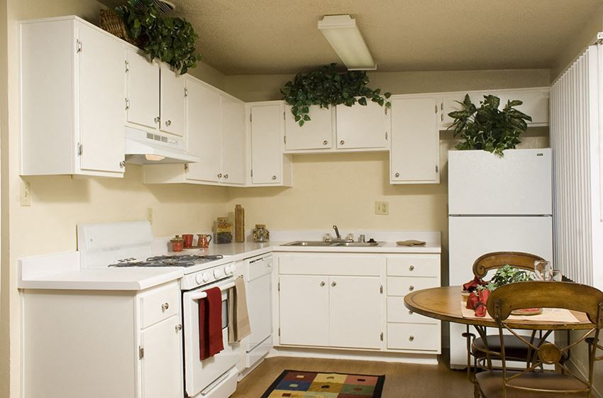 Kitchen cabinets at Walden Glen in Buena Park CA