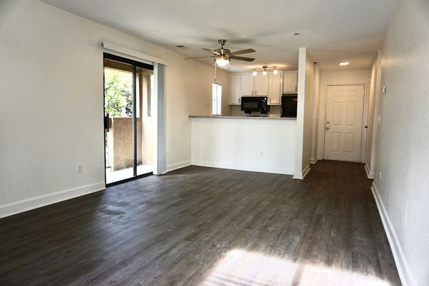 Living room and kitchen at Hilltop Commons Apartments in San Pablo CA